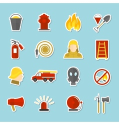 Firefighting icons stickers vector image vector image