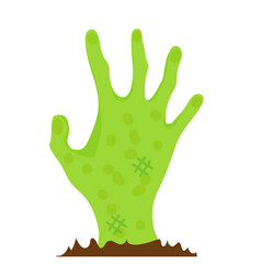 hand zombie icon flat style isolated on white vector image