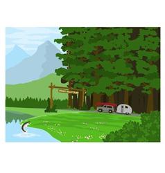 Hidden Valley Camp vector image