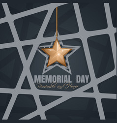 memorial day poster design vector image