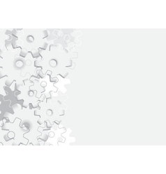 Background with cogs vector image vector image
