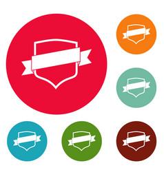 badge icons circle set vector image