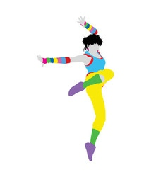 Happy Dancer Silhouette vector image vector image