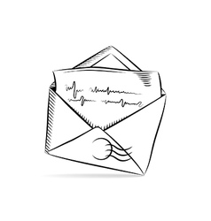 Mail icon sketch vector image vector image