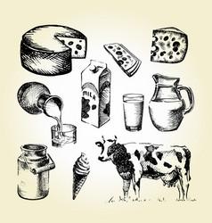 milk draw vector image