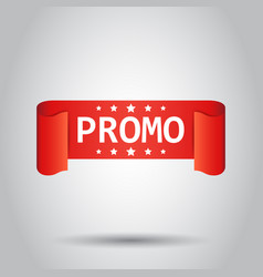 promo ribbon icon discount sticker label on white vector image
