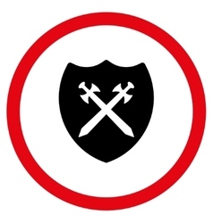 Security Shield Flat Rounded Icon vector image