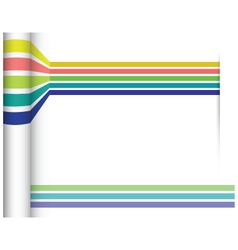 Abstract straight lines with white paper vector image