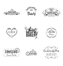 badge set for small businesses - sweet bakery the vector image