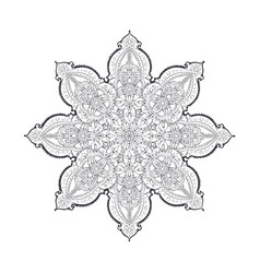 beautiful indian pattern vector image