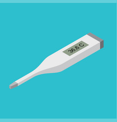 digital thermometer medical instrument isometric vector image