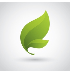 Green Leaf Icon vector image vector image