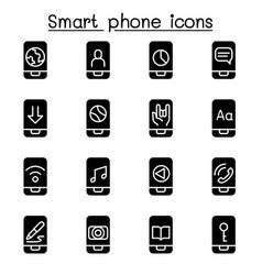 smart phone icon set vector image vector image