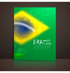 blurred background with sparkles in brazil flag vector image