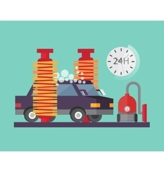 Car service Auto wash and transport cleaning vector image