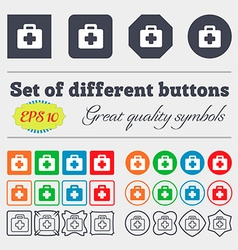 first aid kit icon sign Big set of colorful vector image vector image