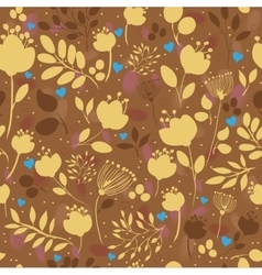 Golden Flowers Floral Seamless Pattern vector image vector image