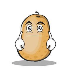 neutral face potato character cartoon style vector image vector image