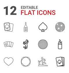 12 club icons vector