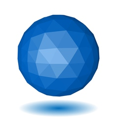 Abstract blue low polygonal sphere vector