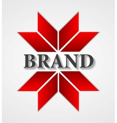 Abstract corporate logo design vector