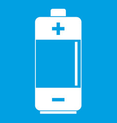 Alkaline battery icon white vector