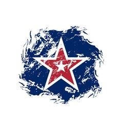 American flag star grunge symbol vector image