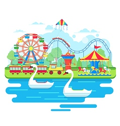 Amusement park concept vector