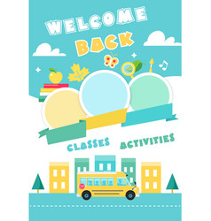 back to school poster ot banner vector image