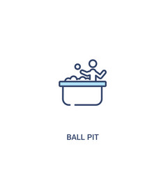 Ball pit concept 2 colored icon simple line vector