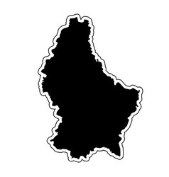 Black silhouette of the country luxembourg with vector