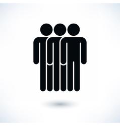 Black three people man figure with drop shadow vector