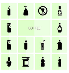 Bottle icons vector
