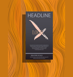 brochure design template flyers report business vector image