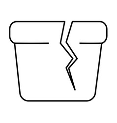 Broken pot icon vector