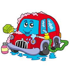 cartoon car wash vector image