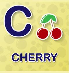 Cherry alphabet background vector