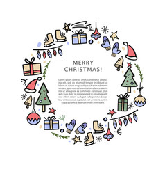 christmas banner template with christmas vector image
