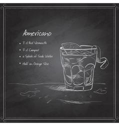 coctail americano on black board vector image