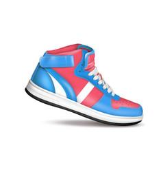 color sport sneaker vector image