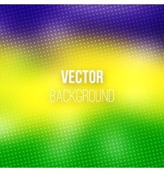 Colorful Blurred Background With Halftone Effect vector image