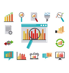 data analysis business strategy and investment vector image