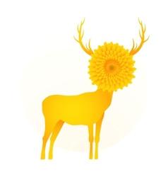 Deer head flower vector