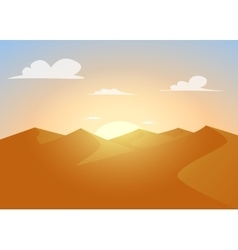 Desert landscapeDunes with sunset vector