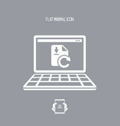 download update file - flat minimal icon vector image