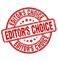 Editors choice red grunge stamp vector