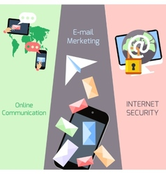 Email marketing security communication concepts vector