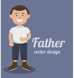 Father character design vector