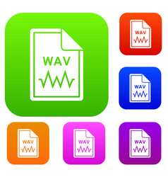 File wav set collection vector