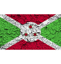 Flag of Burundi with old texture vector image